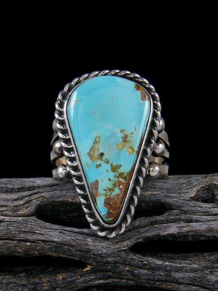 Natural Royston Turquoise Ring, Size 9.5