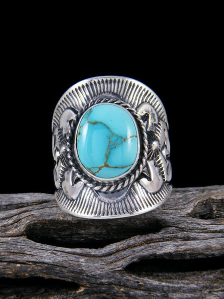 Royston Turquoise Sterling Silver Ring, Size 8