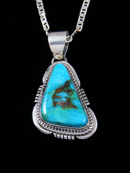 Native American Indian Jewelry Easter Blue Turquoise Pendant