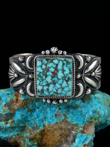 Native American Indian Jewelry High Grade Kingman Turquoise Bracelet