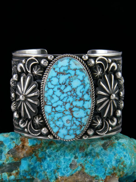 Native American Indian Jewelry Kingman Birdseye Turquoise Bracelet
