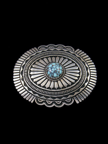 Native American Indian Dry Creek Turquoise Sterling Silver Buckle