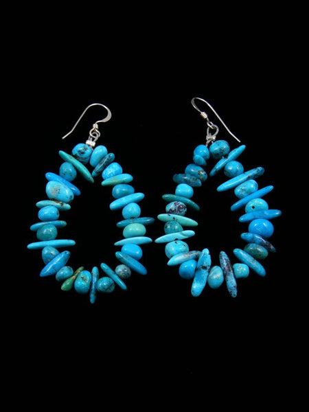 Navajo Turquoise Bead Dangle Earrings