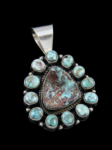 Large Native American Dry Creek Turquoise Pendant