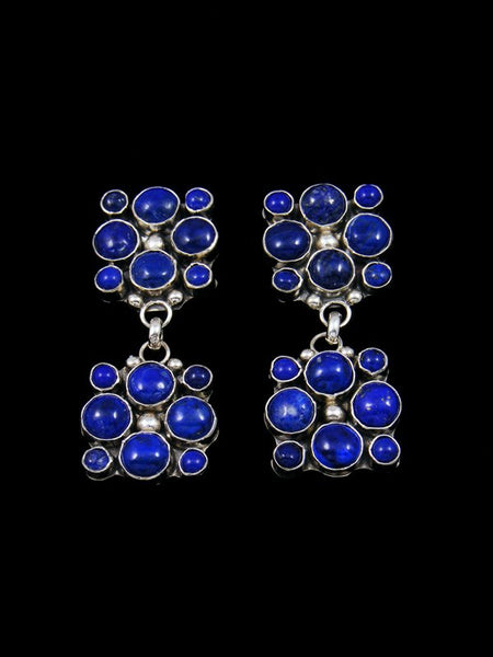 Navajo Sterling Silver Lapis Post Earrings