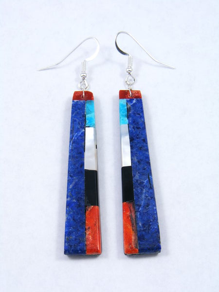 Mosaic Lapis Santo Domingo Dangle Earrings