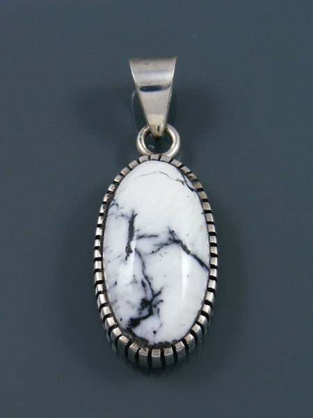 Native American White Buffalo Sterling Silver Ingot Pendant