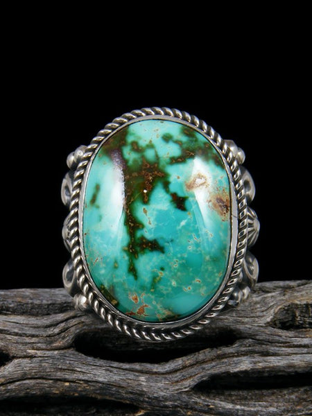 Natural Royston Turquoise Ring, Size 13