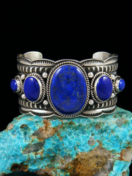 Native American Jewelry Sterling Silver Lapis Bracelet