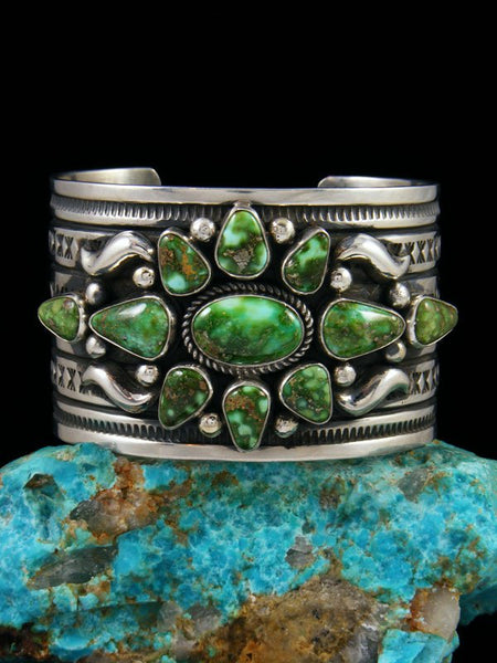 Native American Indian Jewelry Sonoran Gold Turquoise Cuff Bracelet