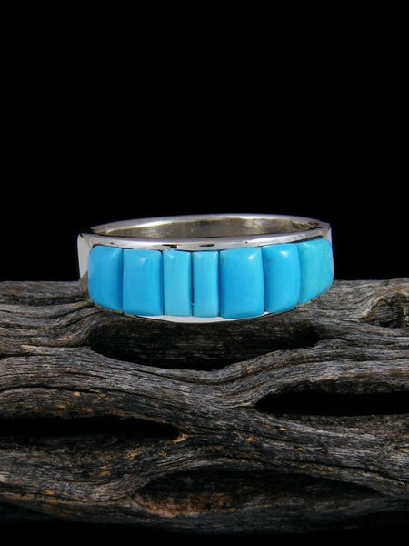 Turquoise Cobblestone Inlay Ring, Size 12 1/4