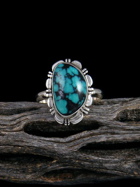 Native American Cloud Mountain Turquoise Ring, Size 9