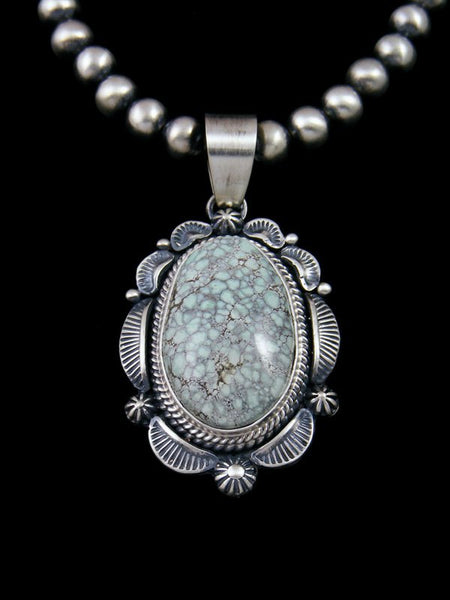 Native American Sterling Silver Nevada Variscite Necklace