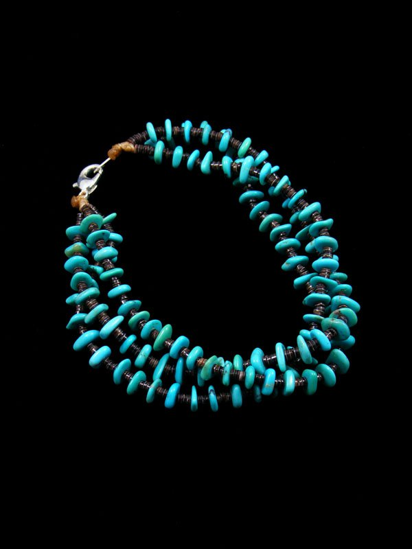 Native American Indian Jewelry Turquoise Bead Bracelet