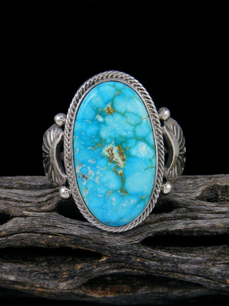 Natural Kingman Turquoise Ring, Size 16 1/2