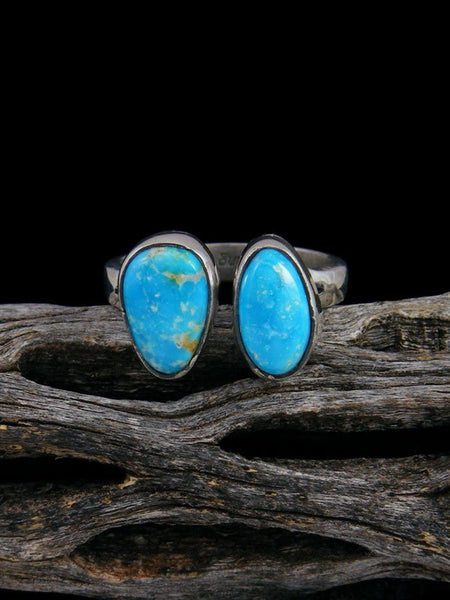 Adjustable Kingman Turquoise Ring, Size 7 1/2 -8 1/2