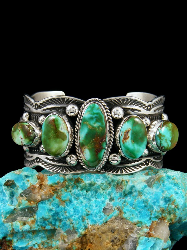 Royston Turquoise Cuff Native American Made Bracelet