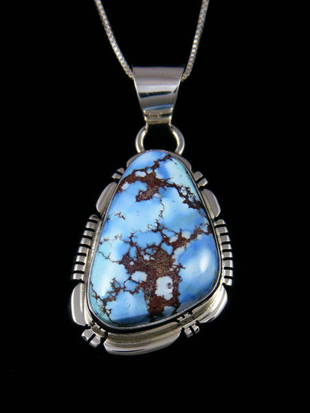 Sterling Silver Natural Golden Hill Turquoise Navajo Pendant