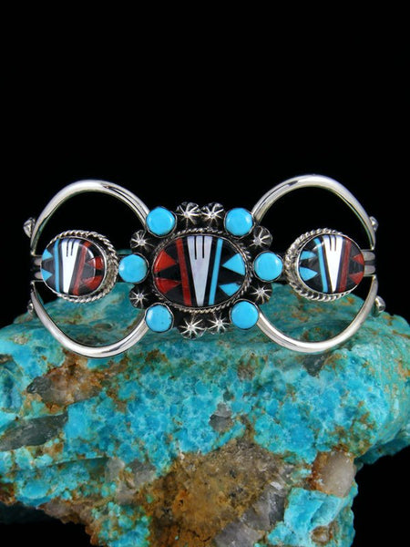 Native American Zuni Pueblo Inlay Bracelet