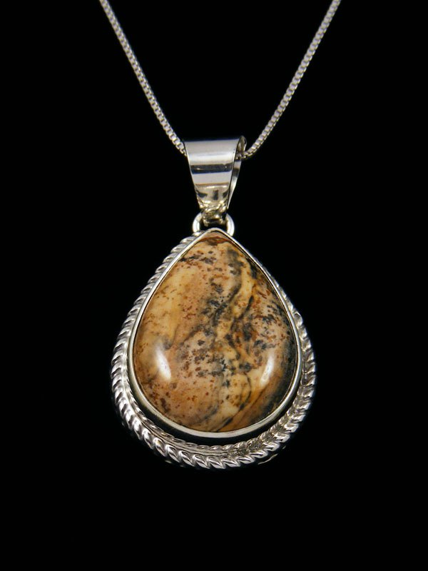 Native American Indian Jewelry Jasper Pendant