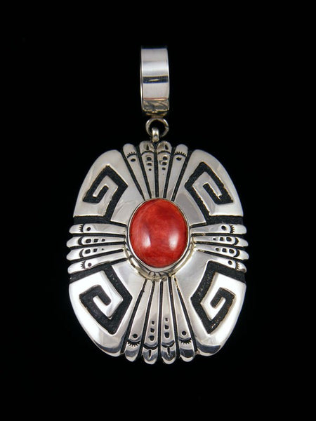 Native American Overlay Spiny Oyster Pendant