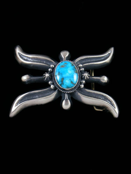 Native American Sonoran Rose Turquoise Belt Buckle