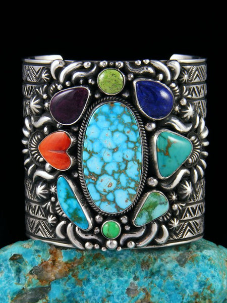 Native American Indian Jewelry Picasso Cuff Bracelet