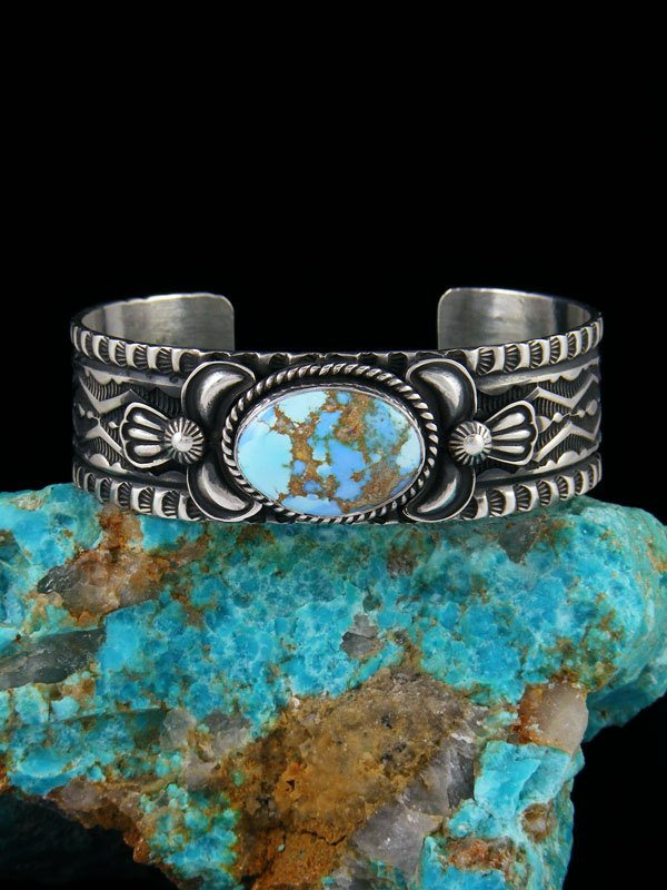 Native American Indian Jewelry Golden Hill Turquoise Bracelet