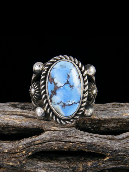 Natural Golden Hill Turquoise Ring, Size 6