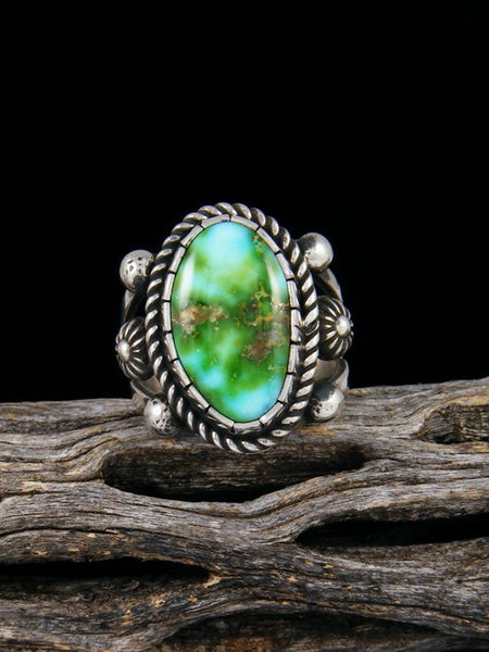 Sonoran Gold Sterling Silver Turquoise Ring, Size 7 1/2