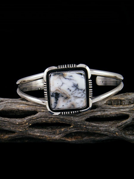 Native American White Buffalo Sterling Silver Bracelet