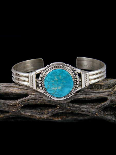 Native American Candelaria Turquoise Cuff Bracelet