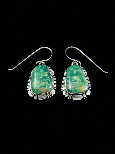 Navajo Sterling Silver Royston Turquoise Dangle Earrings
