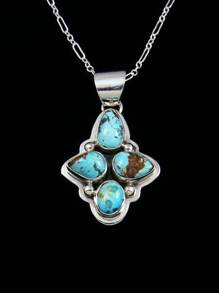 Native American Indian Jewelry Sierra Nevada Turquoise Pendant
