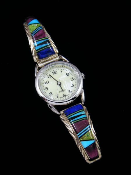 Native American Indian Jewelry Spiny Oyster Ladies' Inlay Watch