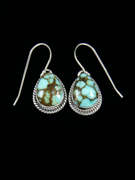 #8 Turquoise Sterling Silver Dangle Earrings