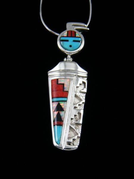 Navajo Necklace Spiny Oyster Kachina Pendant