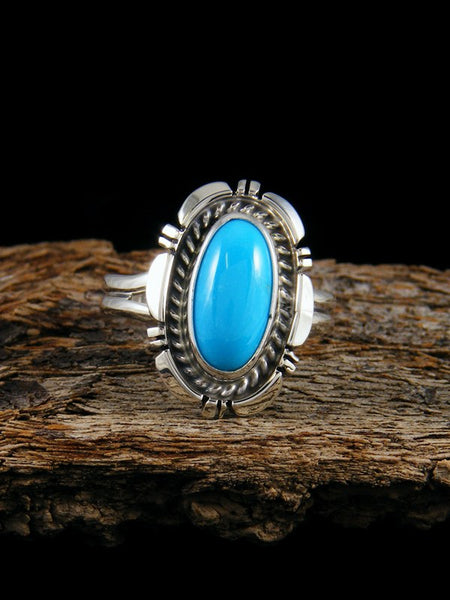 Sleeping Beauty Turquoise Ring, Size 10
