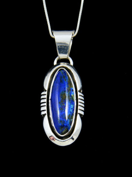 Native American Sterling Silver Lapis Pendant