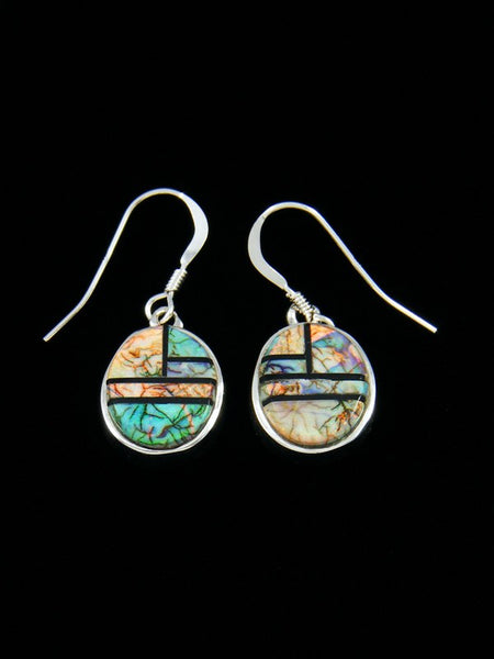 Monarch Opal Inlay Dangle Earrings