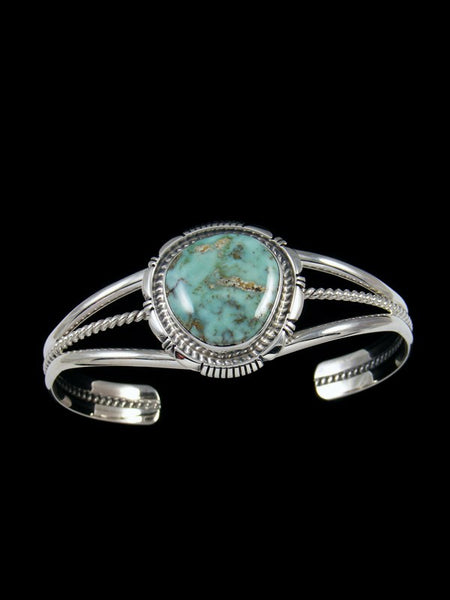 Navajo Dry Creek Turquoise Sterling Silver Cuff Bracelet