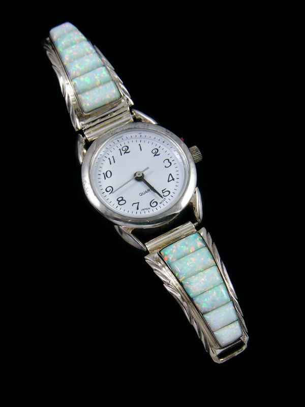 Native American Indian Opalite Inlay Ladies' Watch