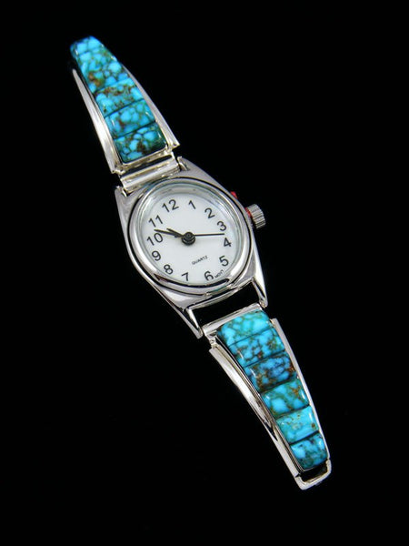 Native American Kingman Redweb Turquoise Ladies' Watch