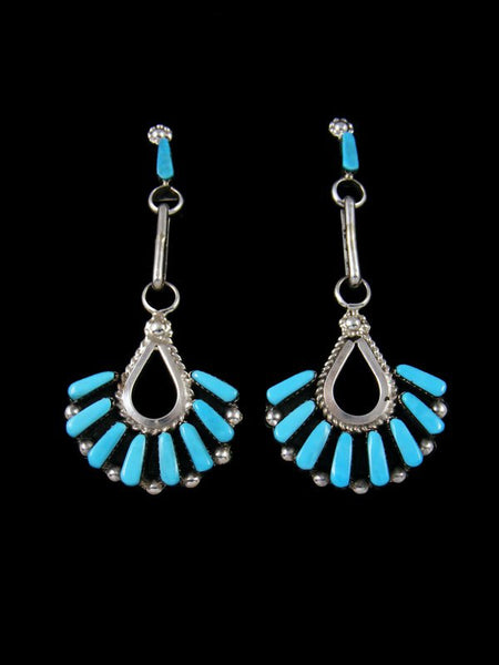 Sterling Silver Zuni Turquoise Post Earrings