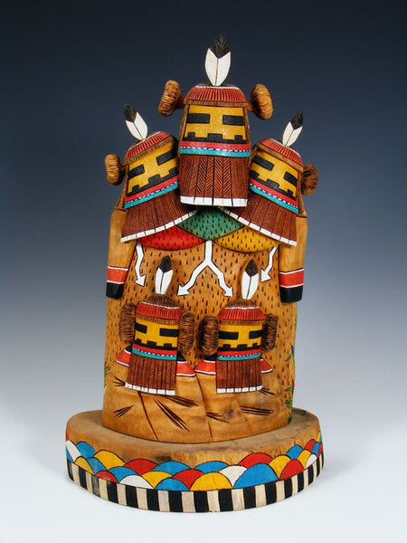 Hopi Hemis Manas Kachina Wood Carving