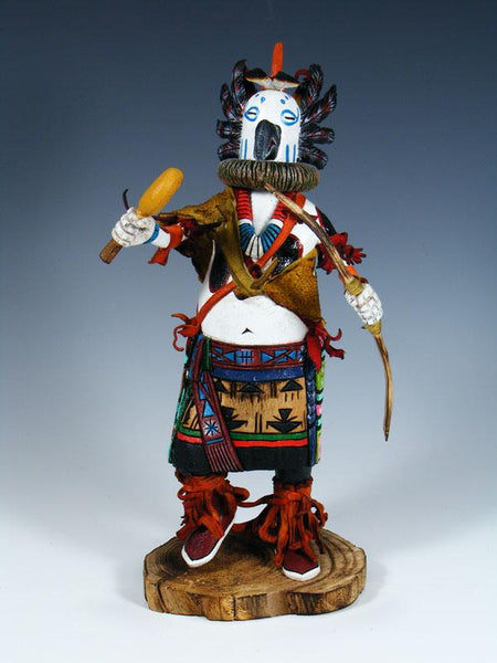 Hopi White Owl Carved Pueblo Kachina Doll