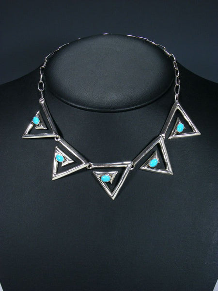 Turquoise Triangle Choker Necklace