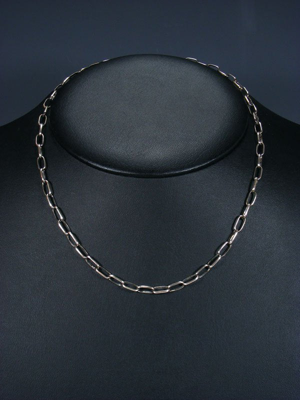 "18 1/2"" Handmade Sterling Silver Link Chain Necklace"