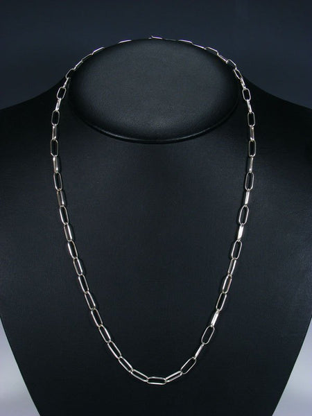 "24 1/2"" Handmade Sterling Silver Link Chain Necklace"