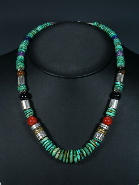 "21"" Turquoise Single Strand Beaded Necklace"